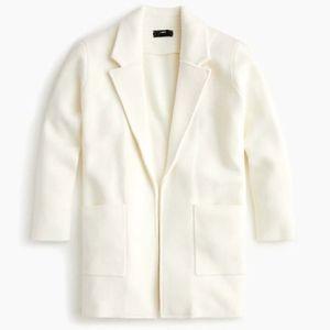 J.Crew Sophie Cream Sweater Blazer Medium